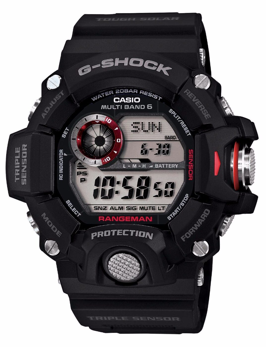 Ηλιακό Ρολόι Casio G-SHOCK RANGEMAN με τριπλό Σένσορα GW-9400-1ER