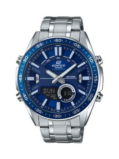 Ρολόι Casio Edifice αδιάβροχο Αναλογικό και ψηφιακό, ανοξείδωτο ατσάλι, χρονόμετρο, EFV-C100D-2AVEF