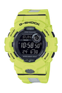 Ρολόι Casio G-SHOCK TRACKER Bluetooth, αναλογικο, με ψηφιακή ένδειξη κάτω του καντραν , με κίτρινο καουτσουκ μπειζελ και λουρακι. G-SHOCK Connected